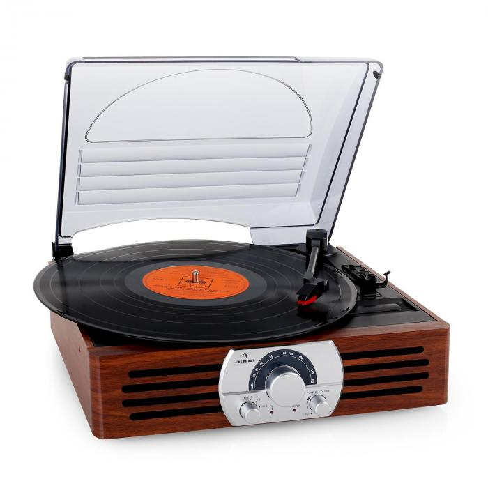 TT-83N Record Player Turntable Stereo System FM Wood