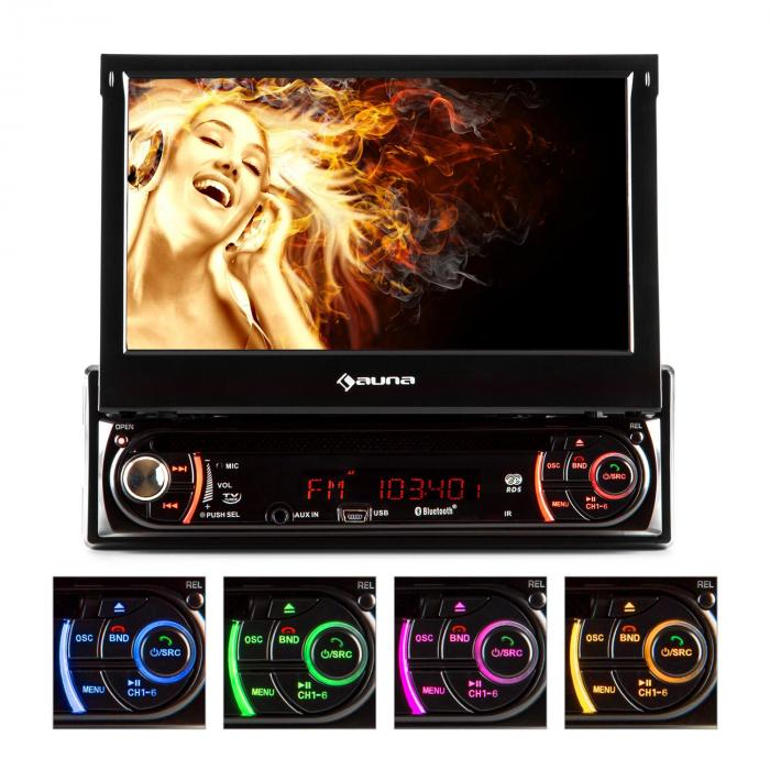 MVD-240 Autoradio DVD CD MP3 USB SD AUX 7'' Touchscreen Bluetooth