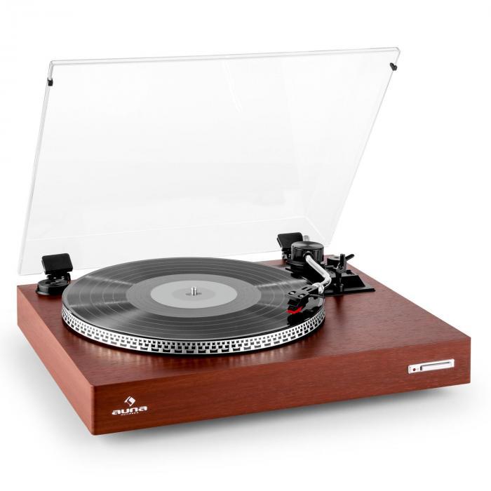 tt 931 platine vinyle tourne disque 2 vitesses avec couvercle bois. Black Bedroom Furniture Sets. Home Design Ideas