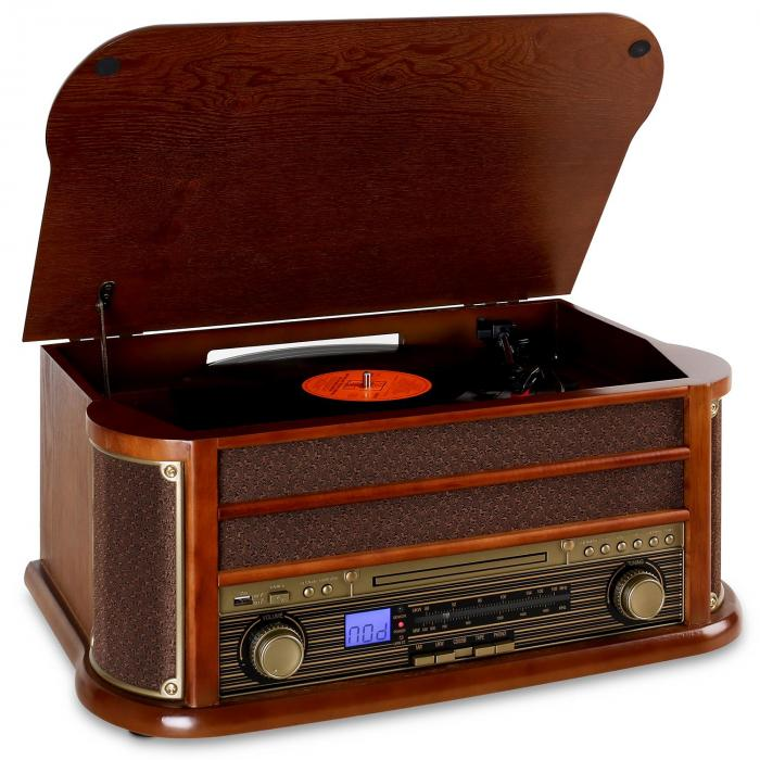 Belle Epoque1908 Minicadena con tocadiscos USB CD MP3 Bluetooth