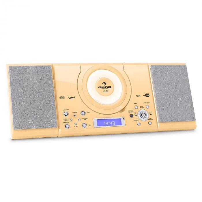 MC-120 impianto stereo MP3 USB color crema