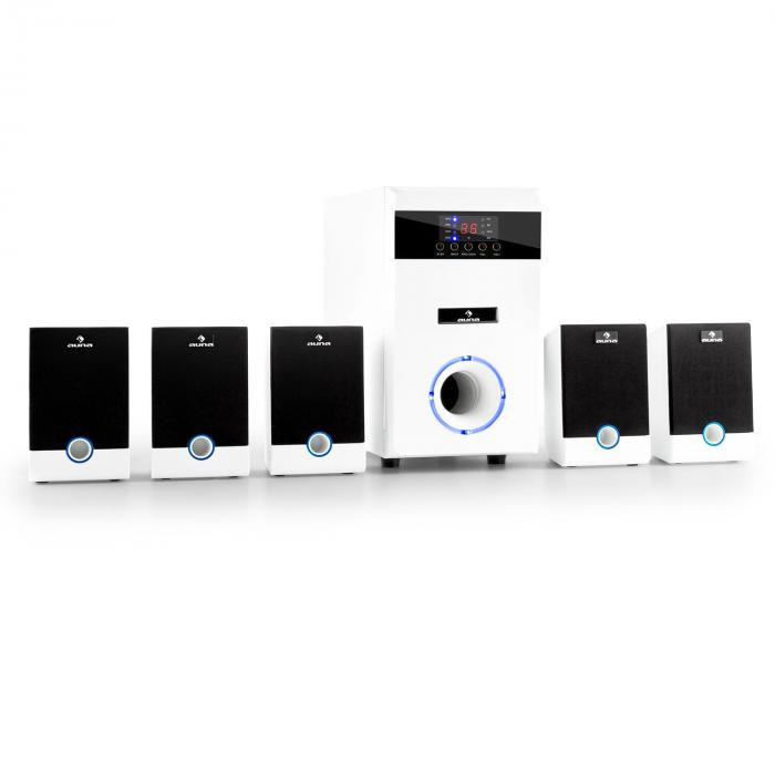 Equipo altavoces home cinema 5.1 95W RMS AUX