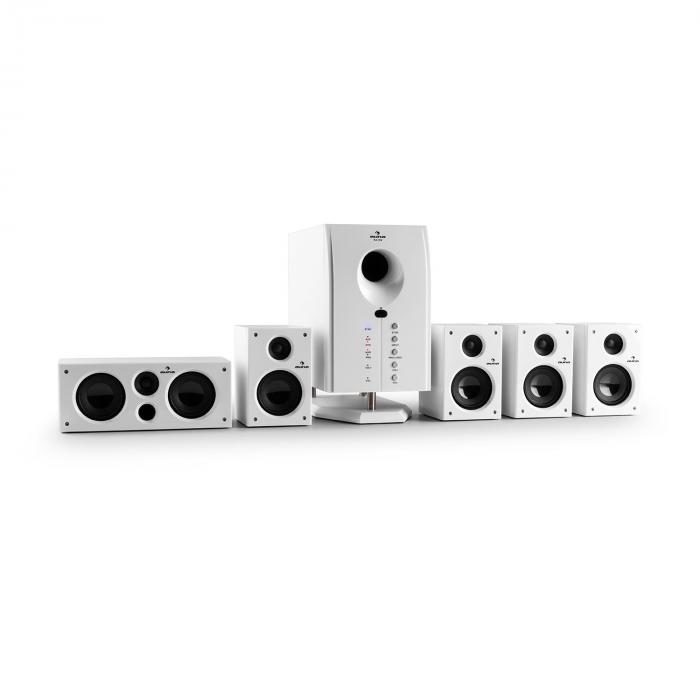 Areal 525 Wh Active 5.1 Channel Surround Speaker System 95W RMS AUX White