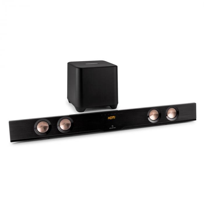 Areal Bar 850 4.1 Soundbar-Subwoofer 150W Bluetooth HDMI USB Alu-Look