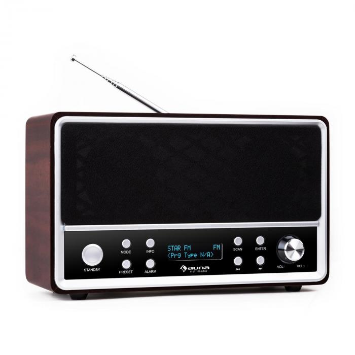 Charleston DAB + Portable Digital Radio + FM RDS Alarm Clock