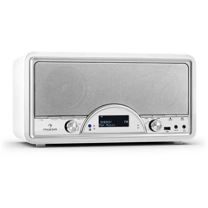 Virginia WH DAB/DAB+ Digitalradio Bluetooth USB UKW AUX MP3 weiß