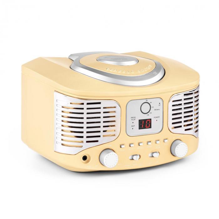 RCD320 Lettore CD Retrò FM AUX Crema