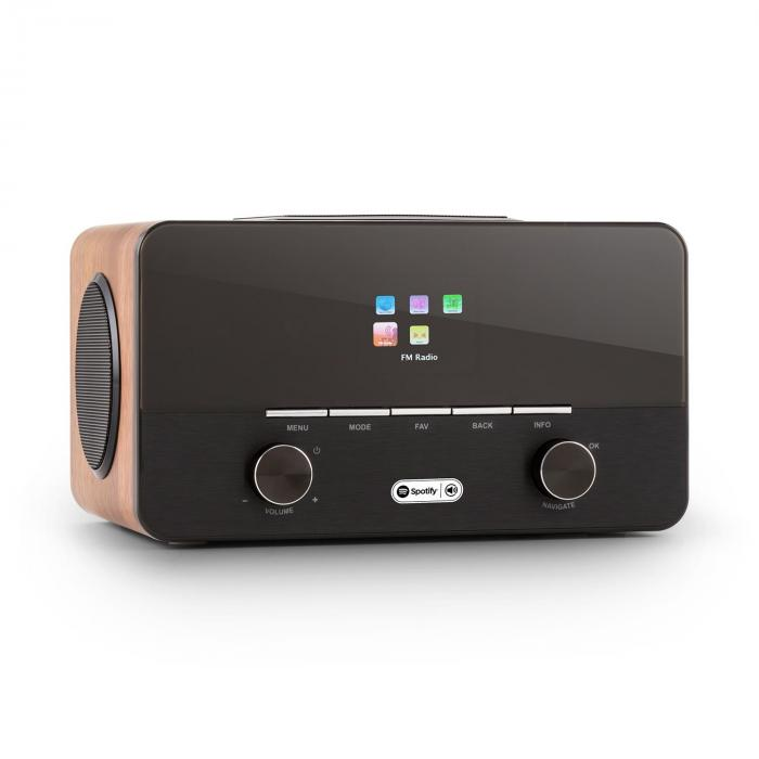 Connect 150 BK 2.1 Internet Radio Lettore USB WLAN DAB + FM RDS Spotify noc