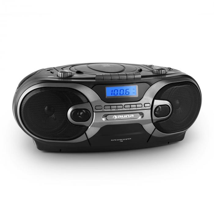 rcd 230 stereo portatile radio cd mp3 cassette sd usb am fm nero. Black Bedroom Furniture Sets. Home Design Ideas