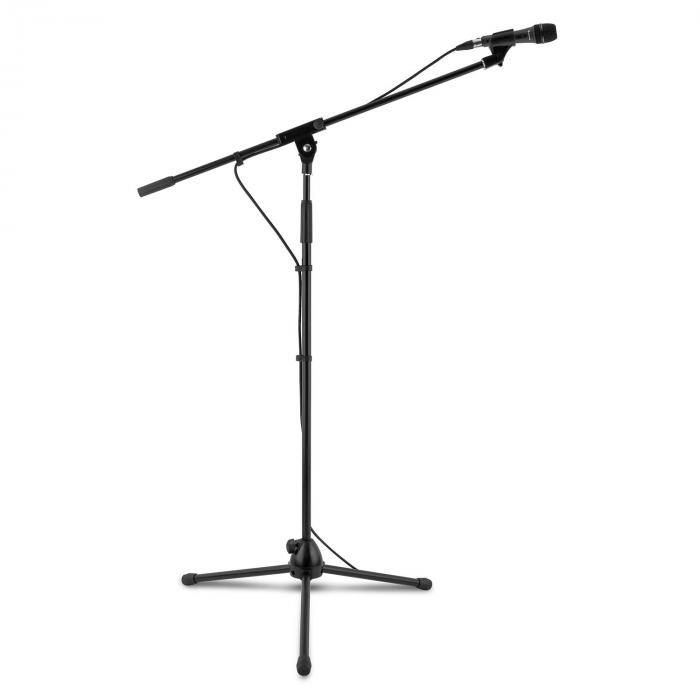 3x auna KM 04 Mikrofon-Set 4 tlg. Mikrofon Ständer Klemme Kabel 5m