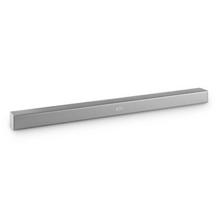 Areal Bar 350 - Soundbar 2.0 80W Touch Bluetooth USB VHF Metallo Cromato Argento