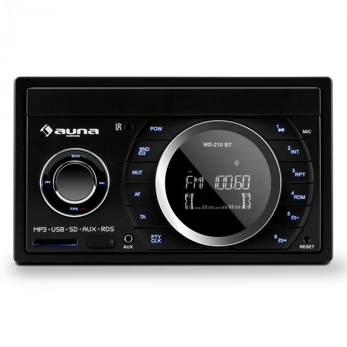md 210 bt rds autoradio bluetooth usb sd mp3 2 din 4x75w online kaufen. Black Bedroom Furniture Sets. Home Design Ideas