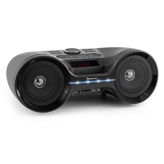 Boombastic Bluetooth Boombox USB SD MP3 AUX FM LED Battery