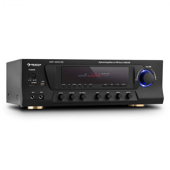 AMP-3800 USB Ampli surround 5.1 canaux 600W max. USB SD FM - noir