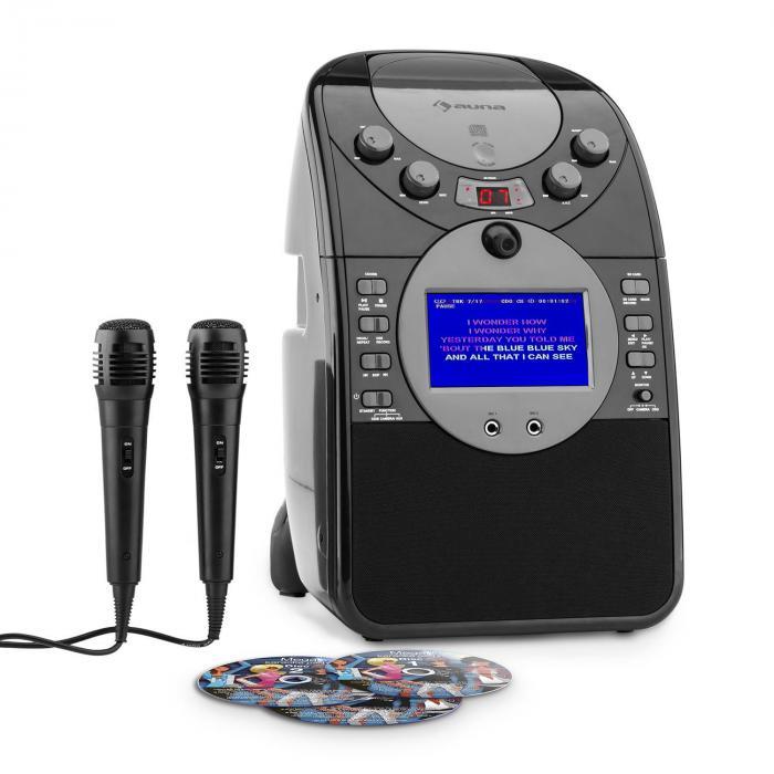 ScreenStar Impianto Karaoke Fotocamera CD USB 2 x Microfoni