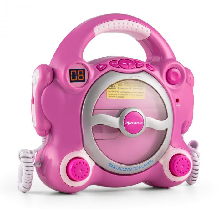 Pocket Rocker Lecteur CD karaoké enfant Sing-A-Long 2 micros -rose