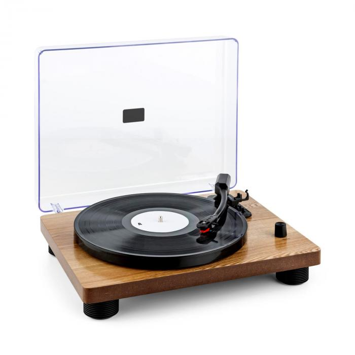 TT Classic WD Retro Record Player USB Line Out Speaker Wood Veneer