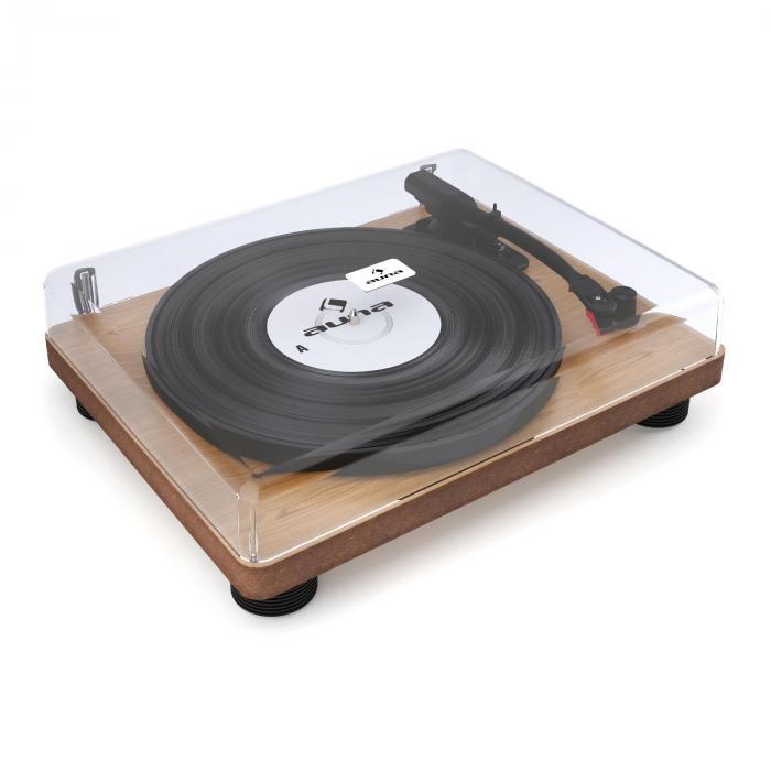 TT Classic WD Retro-Plattenspieler USB Line-Out Lautsprecher Holz-Furnier