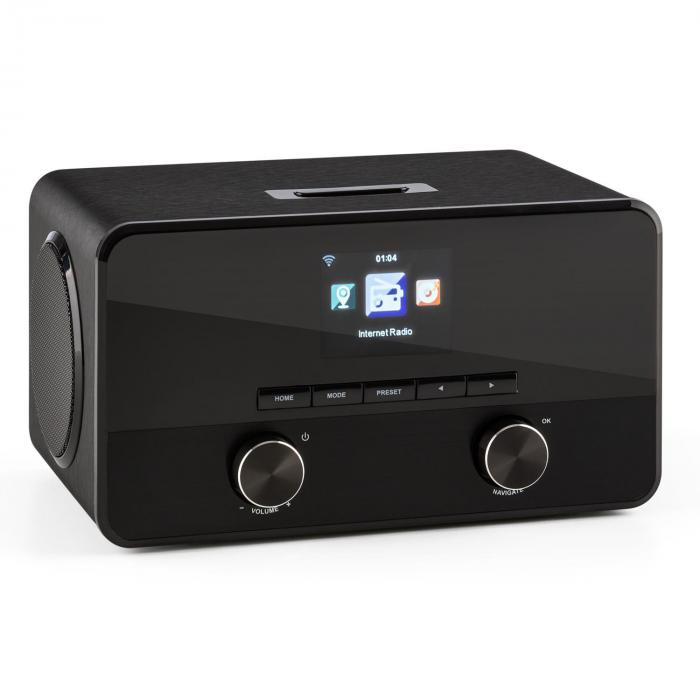 connect 100 internet radio media player bluetooth wlan usb. Black Bedroom Furniture Sets. Home Design Ideas