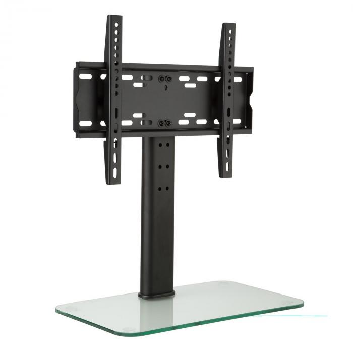 TV Stand Size M Height 60 cm Height-adjustable 23-47 Inches Glass Base
