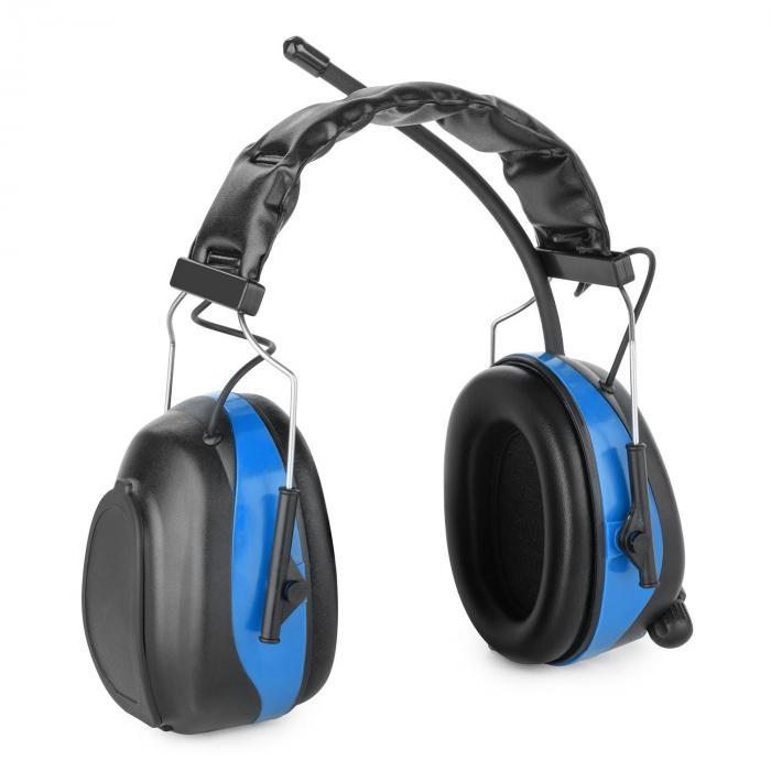 Jackhammer 2.0 Cuffie Antirumore Isolanti Radio VHF Acciaio Blu AUX