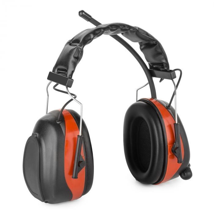 Jackhammer 2.0 Casque radio antibruit SNR 28 dB Aux-In ABS/acier – rouge