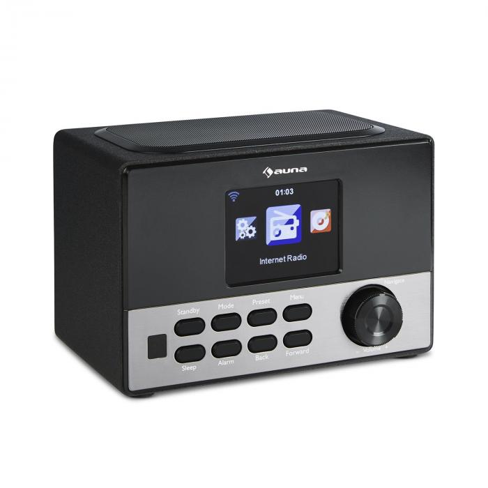 "Connect 90 BK Internet Radio WLAN AUX USB App Control 3.2"" TFT Colour Display Line-out incl. Remote"