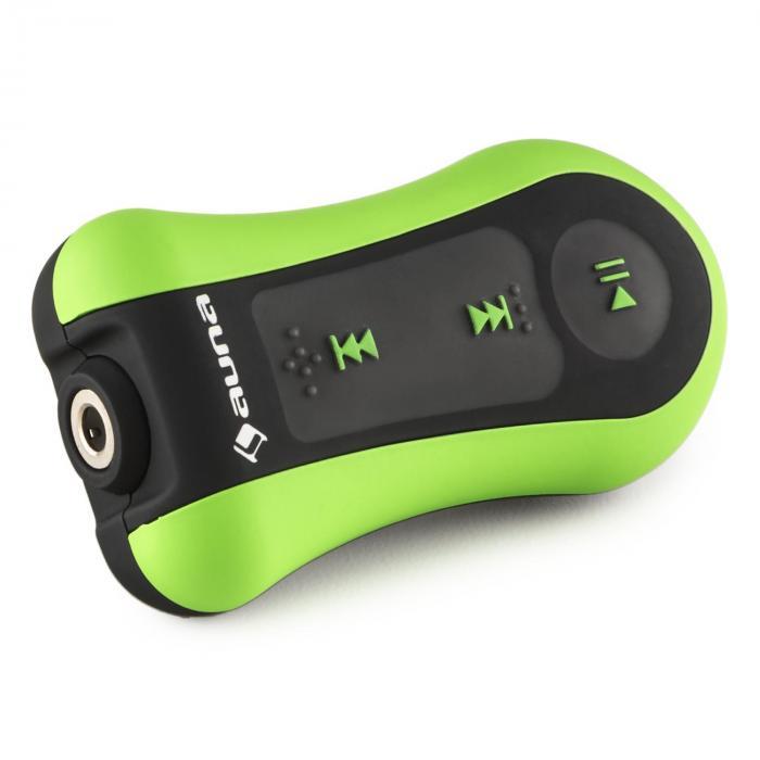Hydro 4 Lecteur MP3 étanche 4 GB IPX-8 Clip Ecouteurs inclus- vert