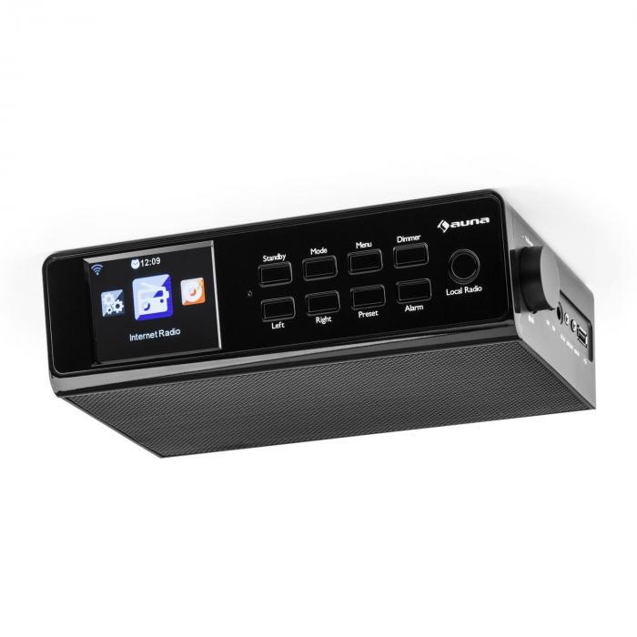"""KR-190 Radio Internet encastrable WiFi Contrôle par application 3,2"""" Ecran TFT - noir"""