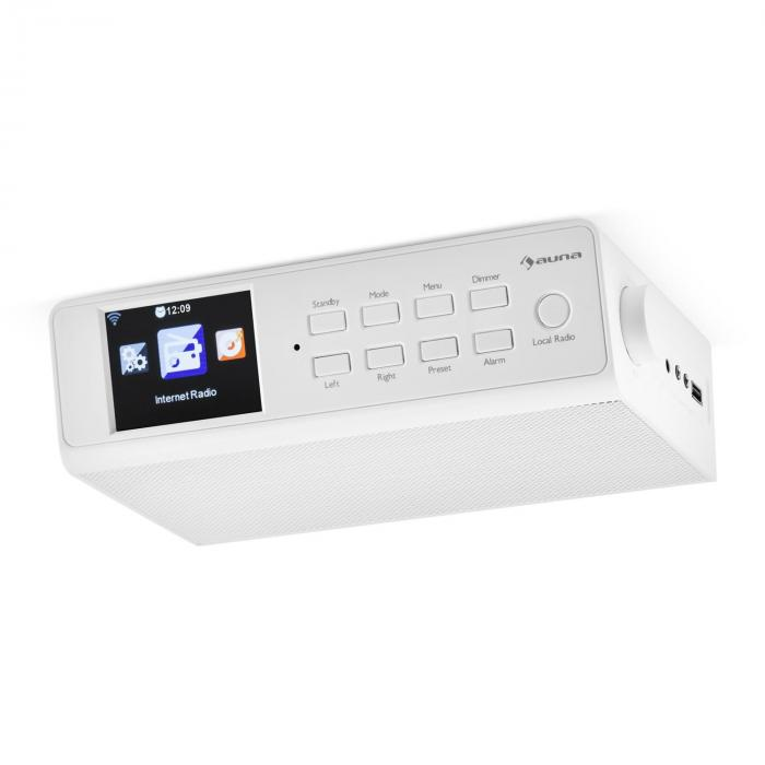 "KR-190 Radio Internet encastrable WiFi Contrôle par application 3,2"" Ecran TFT- blanc"