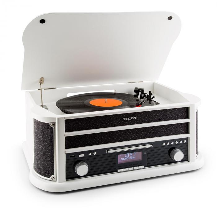 Belle Epoque 1908 DAB retro-stereo record player DAB + Bluetooth white