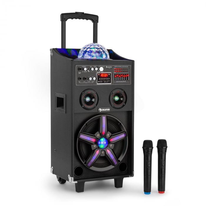 DisGo Box 100 Mobile DJ Speaker with Disco Light 100W RMS Bluetooth USB