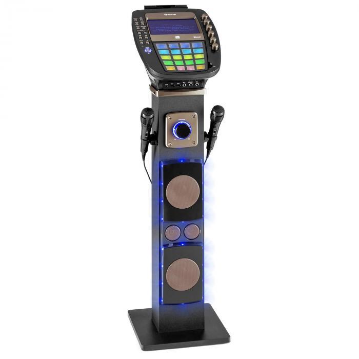"KaraBig Karaokemaschine Bluetooth LED 7"" TFT CD USB Build-In Lautsprecher"