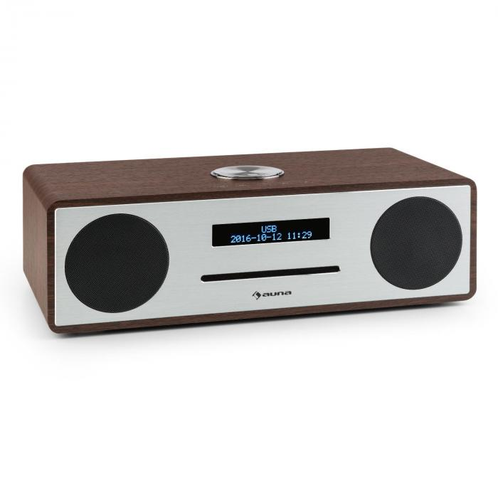 Stanford Radio lecteur CD DAB DAB+ Bluetooth USB MP3 AUX FM noisette