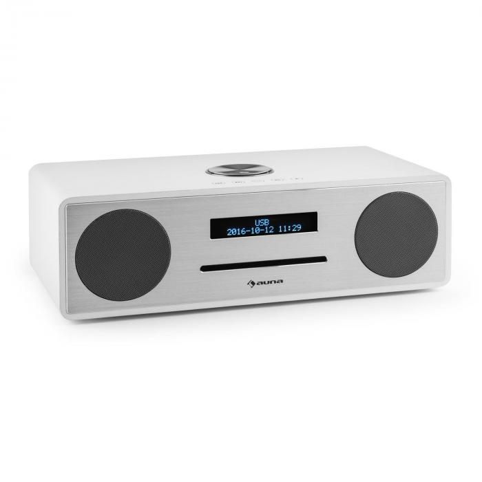 stanford radio lecteur cd dab dab bluetooth usb mp3 aux fm blanc blanc. Black Bedroom Furniture Sets. Home Design Ideas