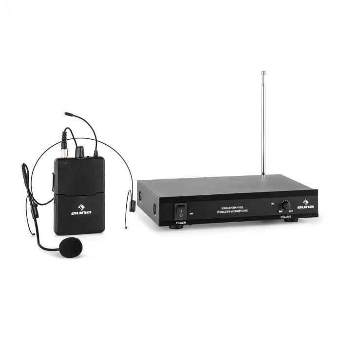 VHF-1-HS 1-Channel VHF Wireless Microphone Set Headset 50m