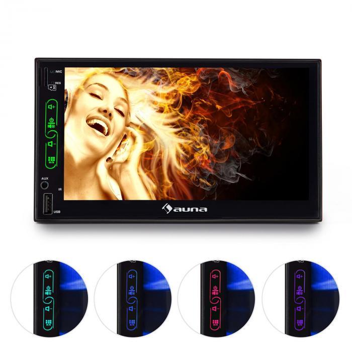 MVD-470 Autoradio numérique double écran tactile 18cm Bluetooth USB microSD