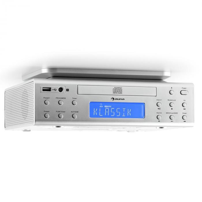 Kitchen Radios Under Cabinet: KRCD-150 Kitchen Under-Counter Radio CD USB AUX FM RDS