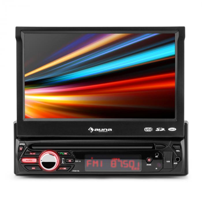 "MVD-310 Autoradio 17,8cm (7"")-Touchscreen Bluetooth USB SD UKW Front-AV"