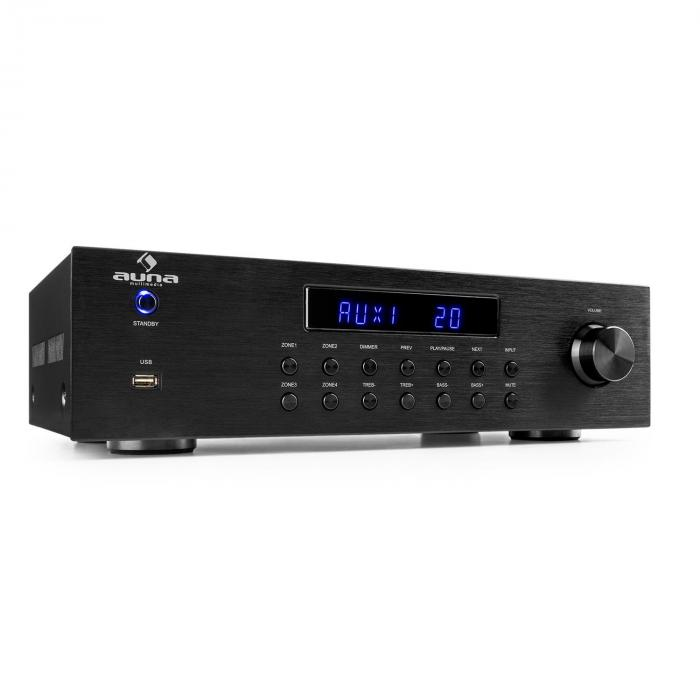 AV2-CD850BT Amplificatore Stereo 4 Zone 5x80W RMS Bluetooth USB CD Nero
