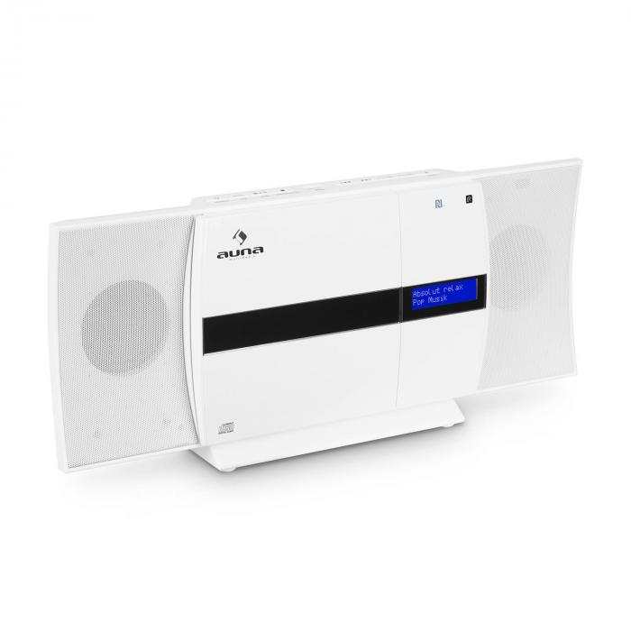 V-20 DAB Vertikal-Stereoanlage Bluetooth NFC CD USB MP3 DAB+ weiß