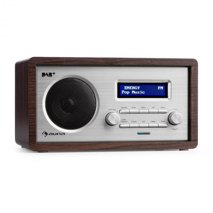 Harmonica DAB + / FM - Radio Dual-Alarm AUX LCD Wooden Case Wenge