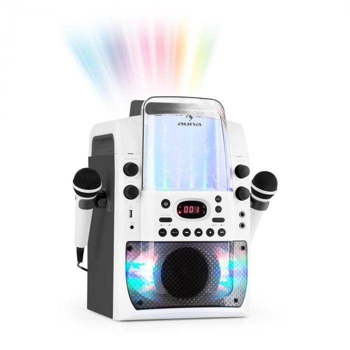 Kara Liquida BT Karaoke Machine Light Show Water Fountain BT White/Grey