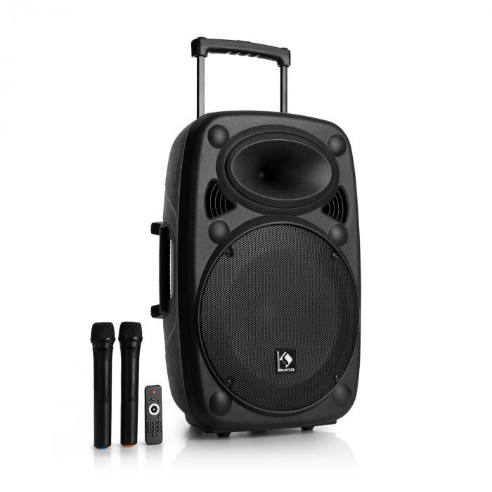 """Streetstar 15 Mobile PA System 15 """"Subwoofer Trolley BT USB/SD/MP3 FM AUX"""