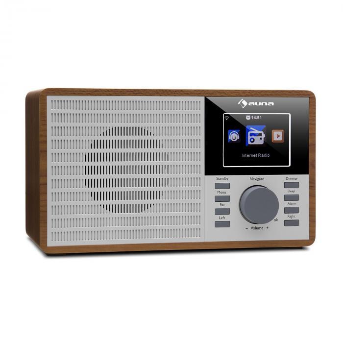 "IR-160 Web Radio WLAN USB AUX UPnP 2.8"" TFT Telecomando marrone"