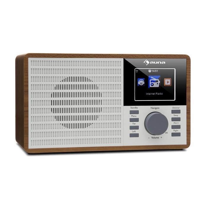 "IR-160 Internet Radio WLAN USB AUX UPnP 2.8"" TFT Display Remote Control Brown"