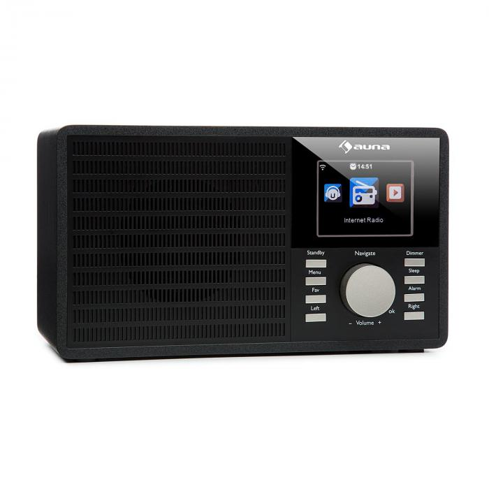 """IR-160 Radio internet WiFi USB AUX UPnP 2.8"""" écran TFT télécommande - noir"""