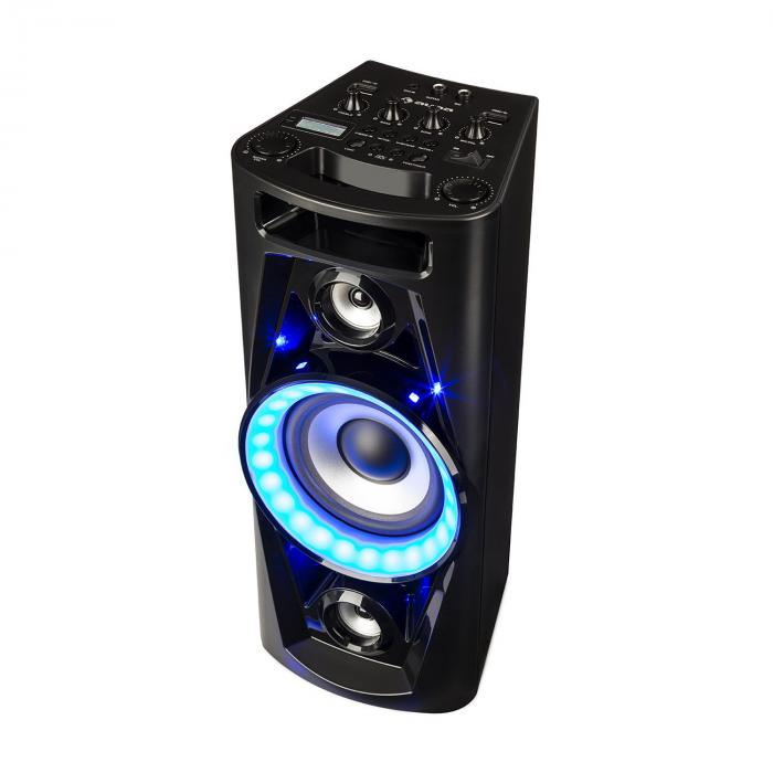 UltraSonic Pulse V6-40 Sistema Audio Altoparlante Batteria BT USB MP3 AUX VHF Chitarra LED Microfono