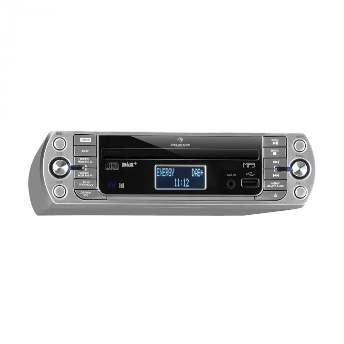 kr 400 cd k chenradio dab pll fm cd mp3 player silber. Black Bedroom Furniture Sets. Home Design Ideas