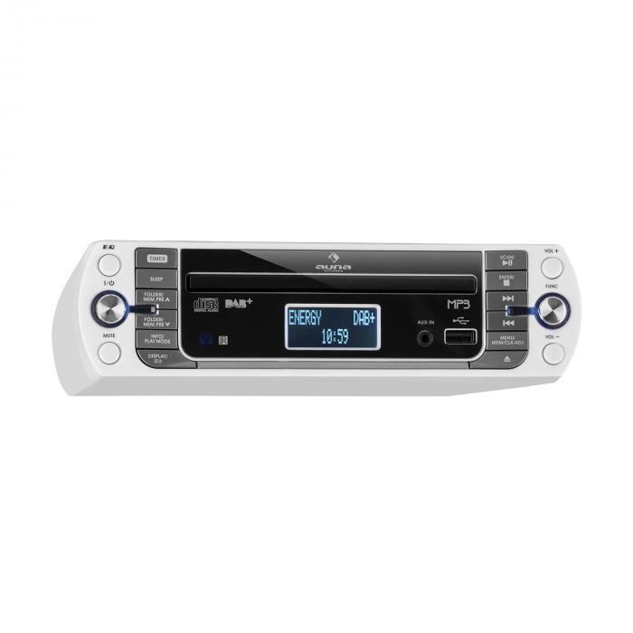 KR-400 CD Radio da Cucina, DAB+/PLL FM, Lettore CD/Mp3 bianco